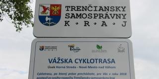 febba3948 Prvých 13,4 km Vážskej cyklotrasy župa odovzdala verejnosti | Mesto ...